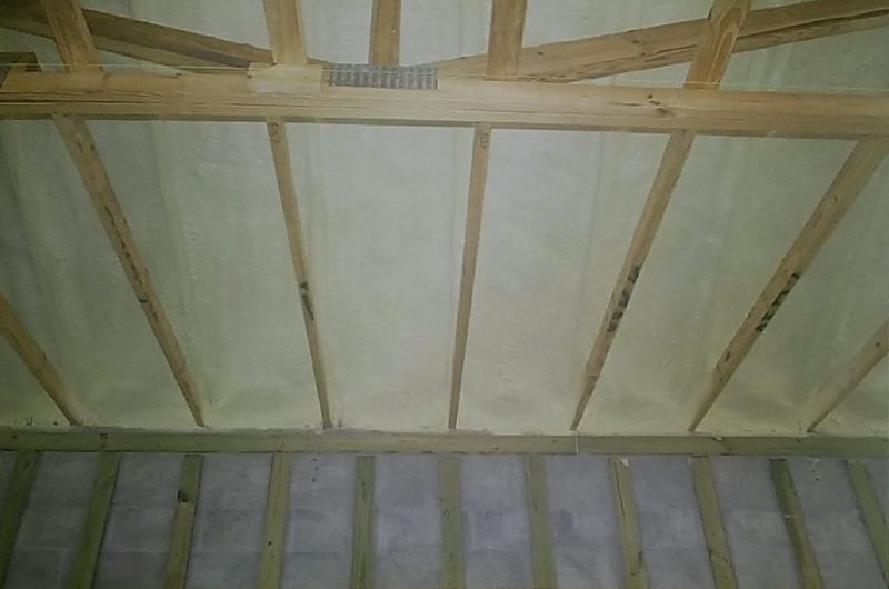 Inside Spray Foam Insulation - Before