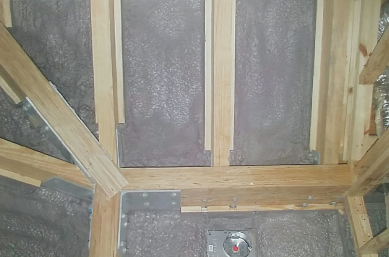 Inside Spray Foam Insulation - During