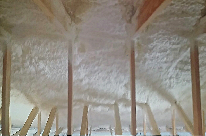 Inside Spray Foam Insulation - After