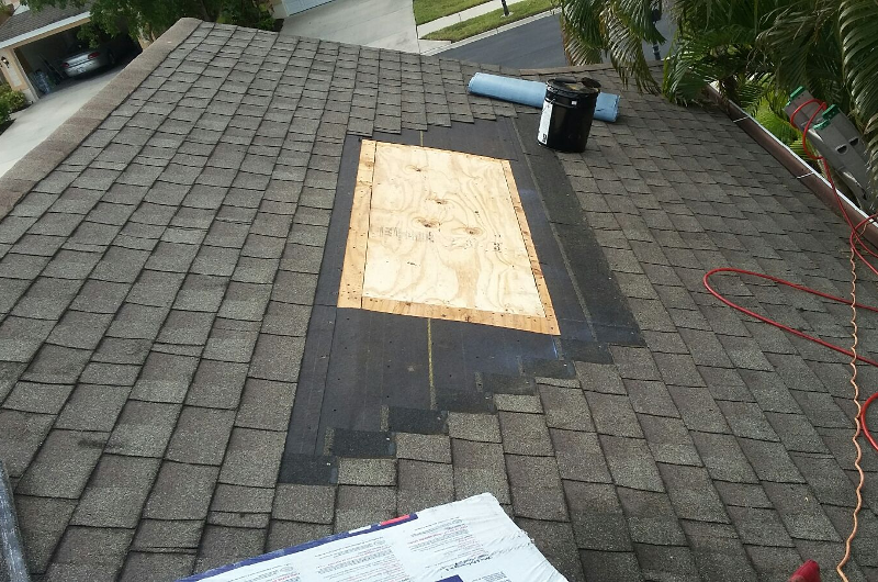 Roof Leak Repair - During