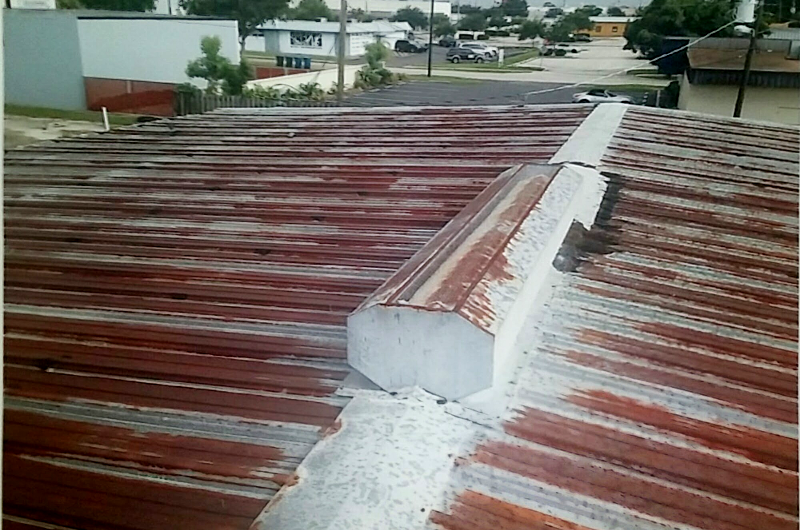 Metal Roof Urethane Restore - Before