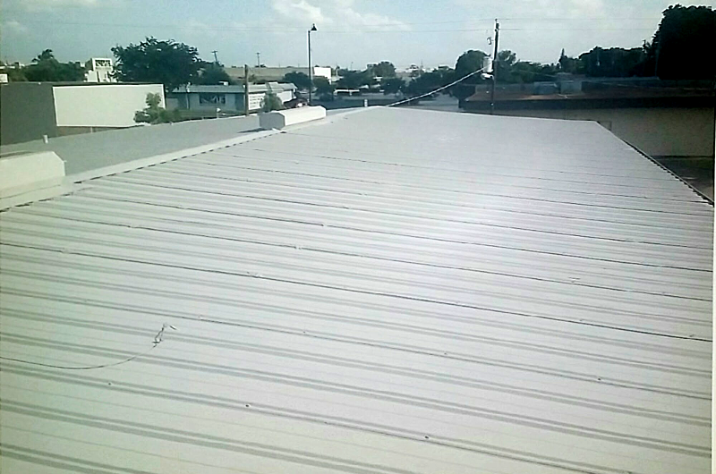 Metal Roof Urethane Restore - During