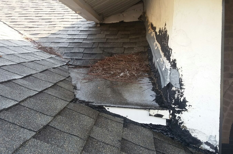 Shingle Repair - Before